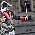 3 doves and the one-legged pedestrian (aka 'The assassination') by Kurt  Tutschek