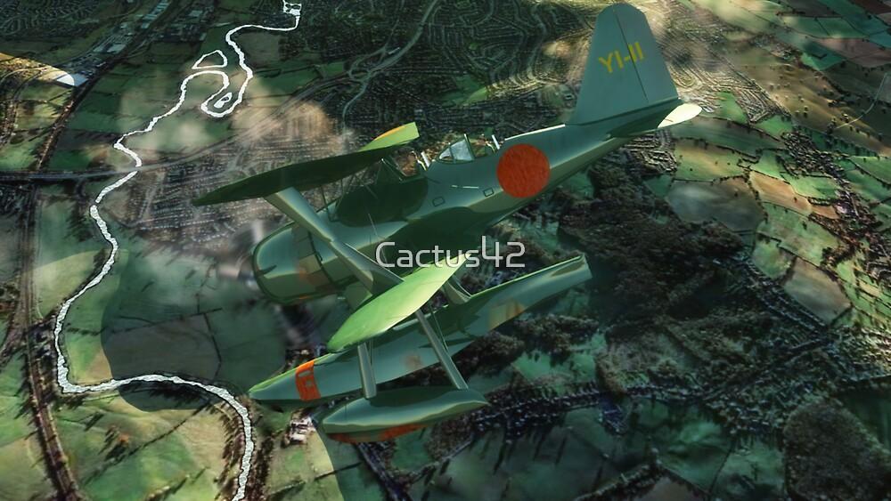 L'avion vert / The green plane by Cactus42