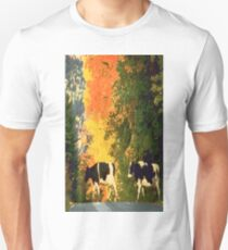 Cows crossing the road Unisex T-Shirt