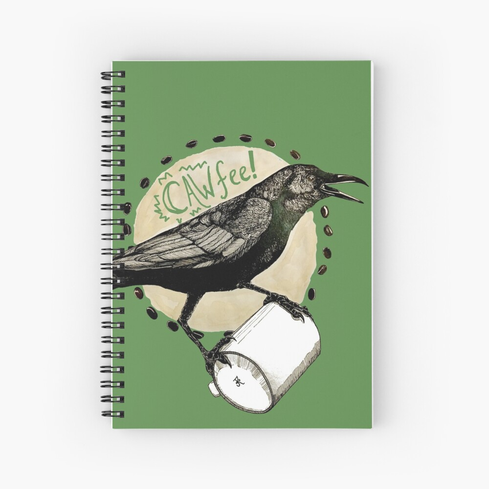 Crows love CAW-fee Spiral Notebook