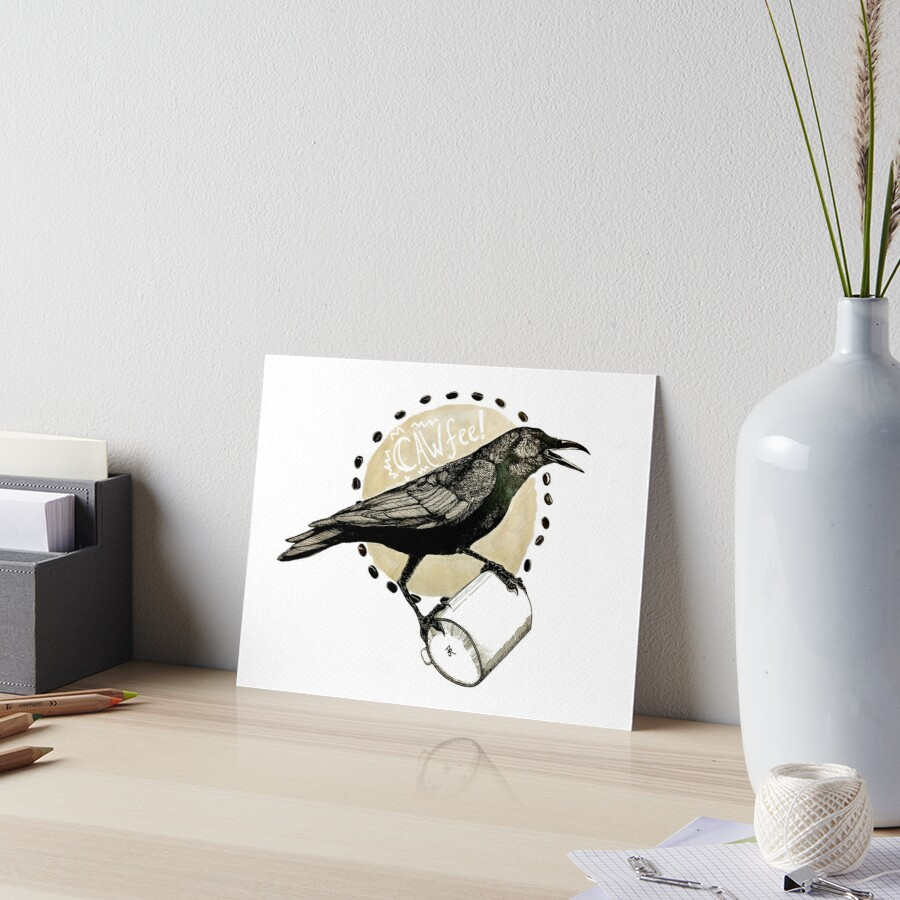 Crows love CAW-fee Art Board Print
