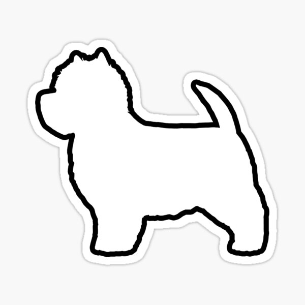 West Highland White Terrier Silhouette(s) Sticker