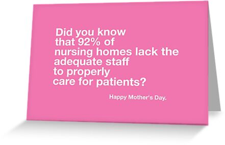 Nursing home mothers day card greeting cards by lolwowomg redbubble nursing home mothers day card by lolwowomg m4hsunfo