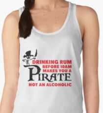 Drinking rum before 10am like a pirate Women's Tank Top