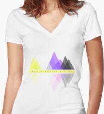 Camiseta entallada de cuello en V Ni un niño o una niña