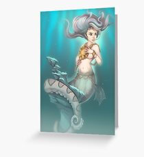 Sea Serpent Queen Greeting Card