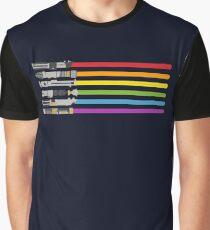 Lightsaber Rainbow Graphic T-Shirt