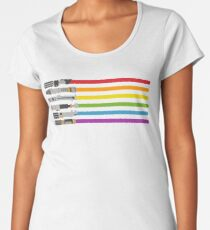 Lightsaber Rainbow Women's Premium T-Shirt