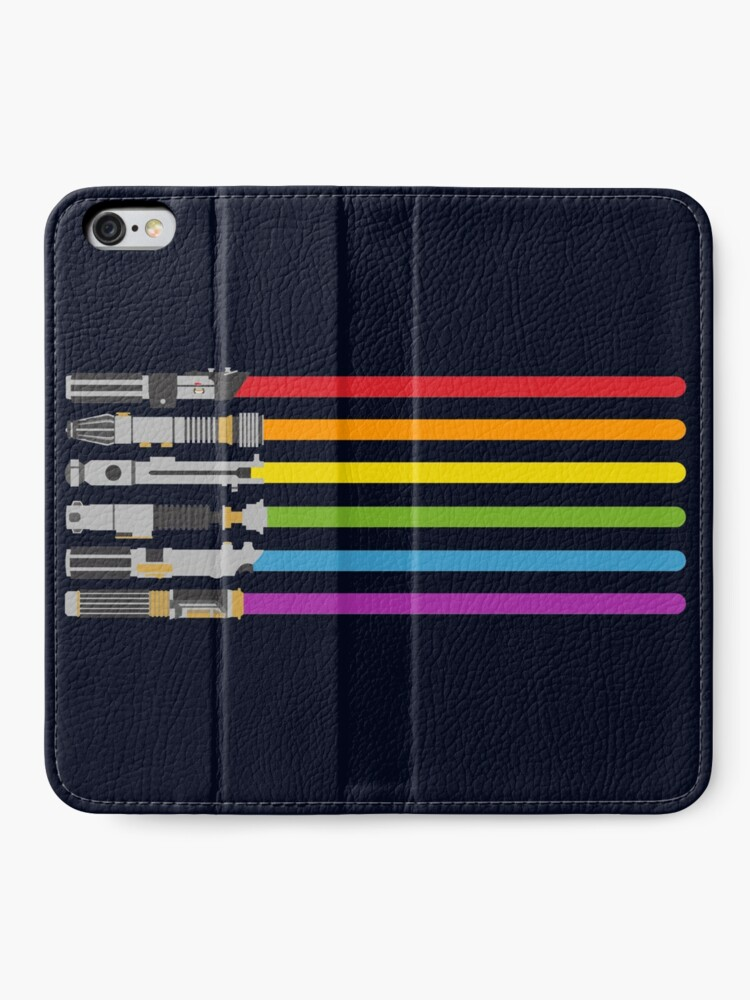 Alternate view of Lightsaber Rainbow iPhone Wallet
