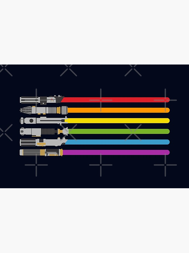 Lightsaber Rainbow by halfabubble