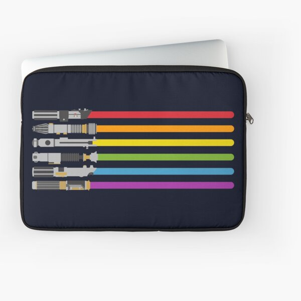 Lightsaber Rainbow Laptop Sleeve