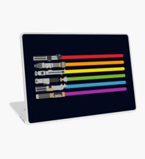 Vinilo para portátil Lightsaber Rainbow