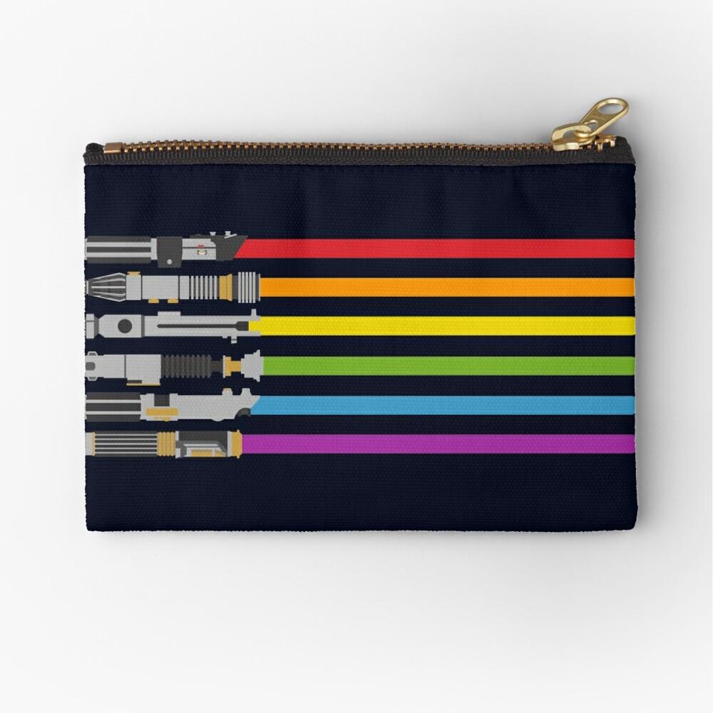 Lightsaber Rainbow Zipper Pouch