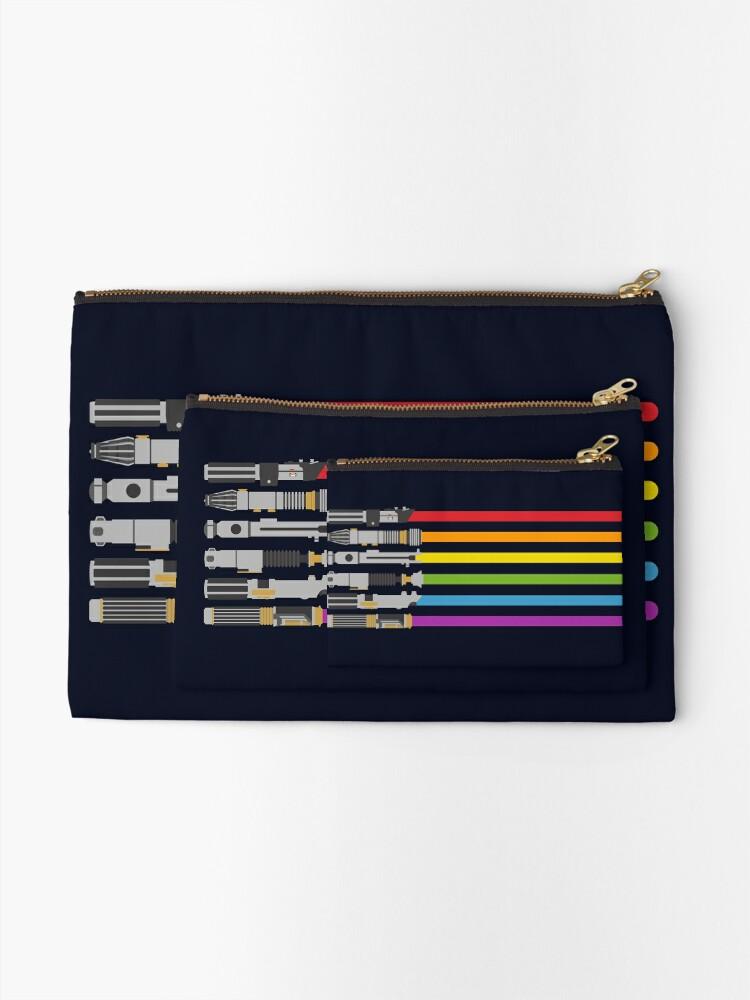 Alternate view of Lightsaber Rainbow Zipper Pouch