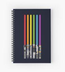 Lightsaber Rainbow Spiral Notebook