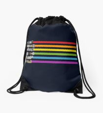 Lightsaber Rainbow Drawstring Bag