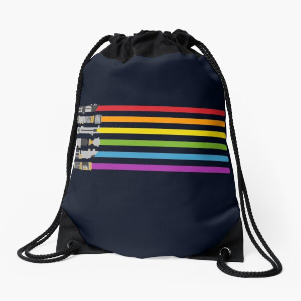 Lightsaber Rainbow Drawstring Bag