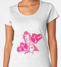 KICK CANCER'S BUTT !!!! Breast Cancer Awareness  Women's Premium T-Shirt