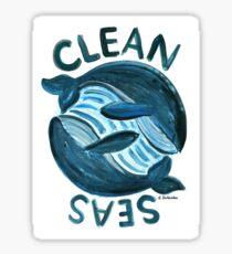 Clean Seas for Whales Sticker