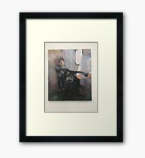 Abstract Impressionism Portrait From Life Framed Print