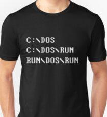 C:\DOS C:\DOS\RUN RUN\DOS\RUN Funny Computer Joke Unisex T-Shirt