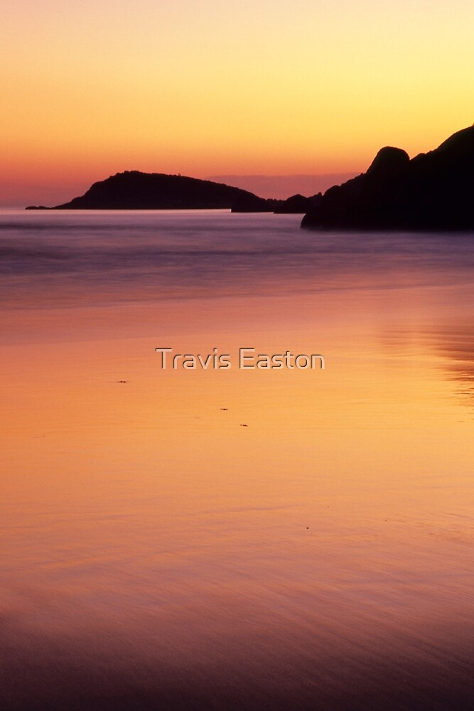 Post Sunset Glow - Squeaky Beach by Travis Easton