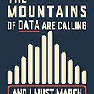 Die Berge der Daten rufen an von electrovista