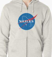 X-Files NASA Logo Zipped Hoodie
