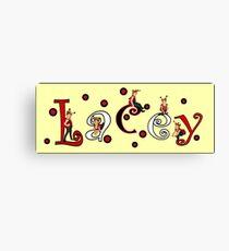 Ladybug Custom Name Art - Lacey Canvas Print