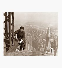 Lámina fotográfica Empire State Building Construction