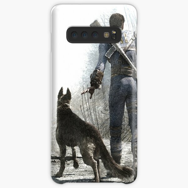 Fallout 4 Vault Dweller and Dogmeat Drawing Samsung Galaxy Snap Case