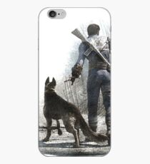 Fallout 4 Vault Dweller and Dogmeat Drawing iPhone Case