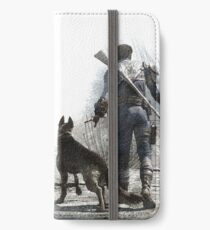 Fallout 4 Vault Dweller and Dogmeat Drawing iPhone Wallet/Case/Skin