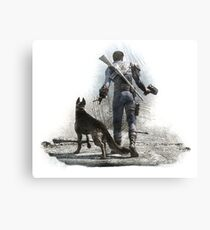Fallout 4 Vault Dweller and Dogmeat Drawing Canvas Print