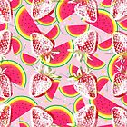 Strawberries Melon Fiesta Pattern by oursunnycdays