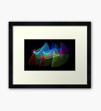 Light Painting Color 1 Framed Print