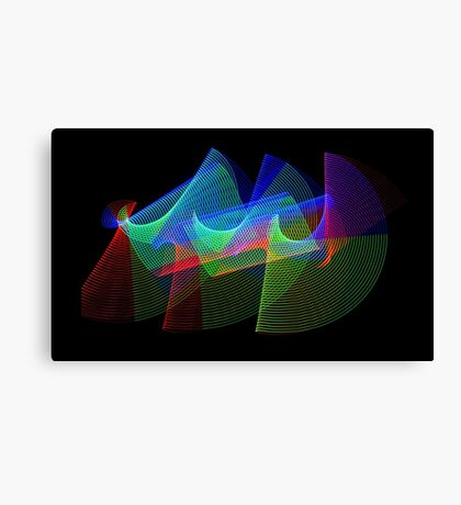 Light Painting Color 1 Canvas Print
