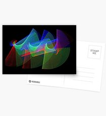 Light Painting Color 1 Postcards