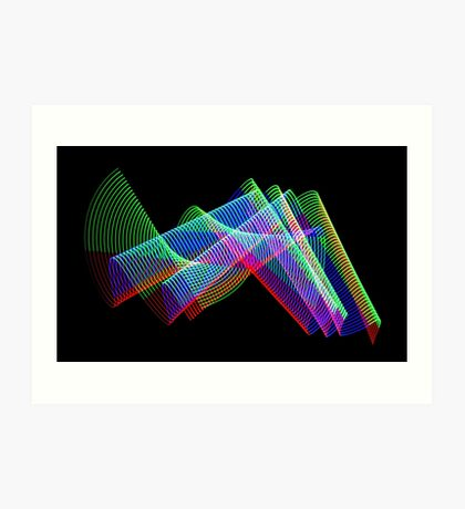 Light Painting color 3 Art Print