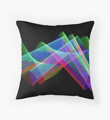 Light Painting color 3 Throw Pillow