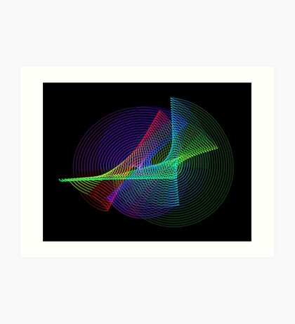 Light Painting color 4 Art Print
