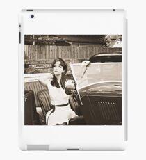 Vintage 40s 50s B&W Model iPad Case/Skin