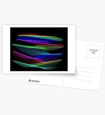 Light Painting Colour 5 Postcards