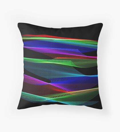 Light Painting Colour 5 Throw Pillow