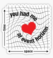Love in Space Time Continuum Sticker