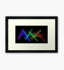 Light Painting Color 7 Framed Print