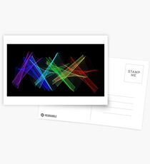 Light Painting Color 7 Postcards