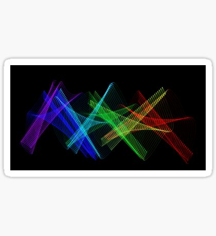 Light Painting Color 7 Sticker