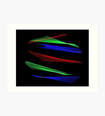 Light Painting Color 8 Art Print