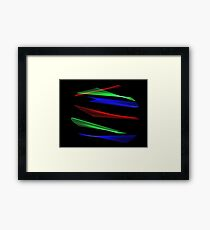 Light Painting Color 8 Framed Print